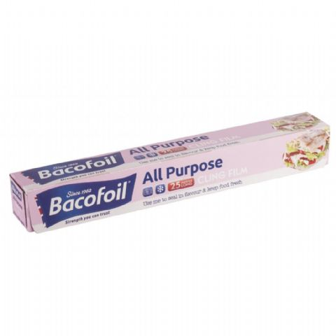 Bacofoil Cling Film Roll - 25 Metres
